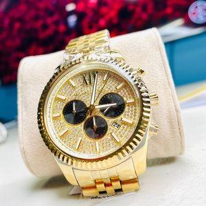 Michael Kors MK8494 Gold Lexington Chrono Watch